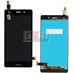 Дисплей для Huawei P8 Lite (ALE L21), черный, с сенсорным экраном (дисплейный модуль)