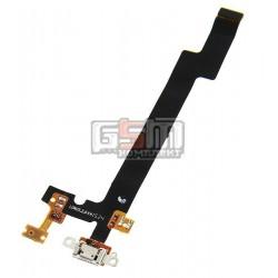 Шлейф для Meizu MX5, коннектора зарядки, с компонентами