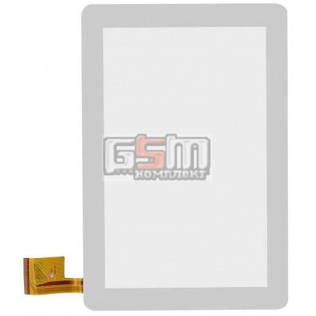 Тачскрін (сенсорний екран, сенсор) для китайського планшету 10, 60 pin, с маркировкой TPC0323 VER1.0, для AMPE A10 3G, SANEI N10, белый