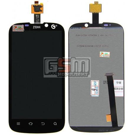 Дисплей для ZTE Grand X, Grand X IN, Mimosa X, V970, черный, с сенсорным экраном (дисплейный модуль), #FRM-S93506-DT043QH-1/S935