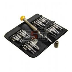 Набір викруток K-tools 1246, 8899, 25 в 1, в шкіряному чохлі