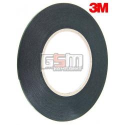 Двухсторонний скотч на вспененной основе, ширина 3мм, длина 10м, толщина 0.5 мм, черный