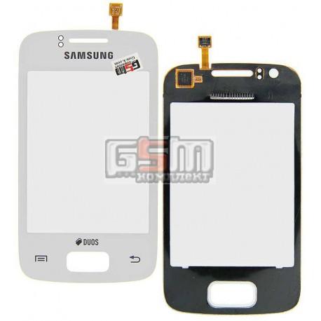 Тачскрин для Samsung S6102 Galaxy Y Duos, белый