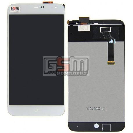 Дисплей для Meizu MX3, белый, с сенсорным экраном (дисплейный модуль)