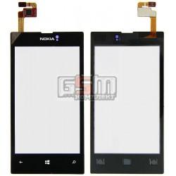 Тачскрин для Nokia 520 Lumia, 525 Lumia, черный, copy