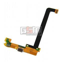 Шлейф для Xiaomi Mi2A, коннектора зарядки, микрофона, с компонентами