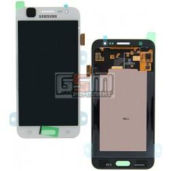Дисплей для Samsung J500F/DS Galaxy J5, J500H/DS Galaxy J5, J500M/DS Galaxy J5, белый, с сенсорным экраном (дисплейный модуль)