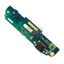 Шлейф для HTC Desire 601, коннектора зарядки, микрофона, с компонентами