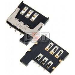 Коннектор SIM-карты для Fly FS452, оригинал, #9090.0622-0