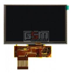 Дисплей для автонавигаторов Navi N50 HD; GPS 5,0 HD, 5.0, 40 pin, с сенсорным экраном (дисплейный модуль), (800*480), #QD050001C0-40/GL050001C0-40/KD50G21-40NT-A1/HSD050IDW1-A20-A