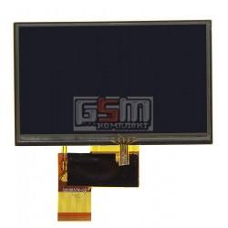"""Дисплей для автонавигаторов Navi N50i BT; GPS 5,0', 5.0"""", 40 pin, с сенсорным экраном (дисплейный модуль), (480*272), #AT050TN33"""