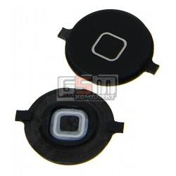 Пластик кнопки меню для Apple iPhone 4S, черный
