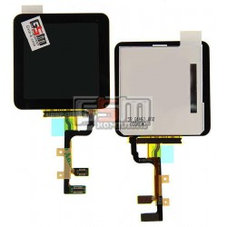 Дисплей для MP3-плеера Apple iPod Nano 6G, черный, copy, с сенсорным экраном (дисплейный модуль)