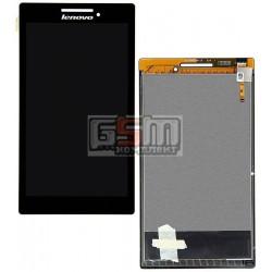 Дисплей для планшетов Lenovo Tab 2 A7-10, Tab 2 A7-20F, черный, с сенсорным экраном (дисплейный модуль), #BT0700430150928-C/1317