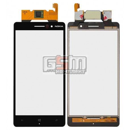 Тачскрин для Nokia 830 Lumia, черный