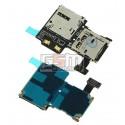 Коннектор SIM-карты для Samsung I9500 Galaxy S4, коннектор карты памяти, со шлейфом
