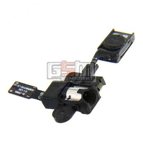 Коннектор handsfree для Samsung N7100 Note 2, N7105 Note 2, со шлейфом, с динамиком