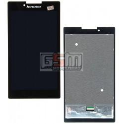 Дисплей для планшетов Lenovo Tab 2 A7-30, Tab 2 A7-30DC, Tab 2 A7-30F, Tab 2 A7-30HC, черный, с сенсорным экраном (дисплейный мо