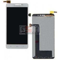 Дисплей для Lenovo S850, белый, с сенсорным экраном (дисплейный модуль)