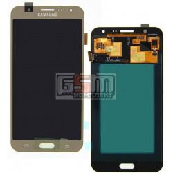 Дисплей для Samsung J700F/DS Galaxy J7, J700H/DS Galaxy J7, J700M/DS Galaxy J7, золотистый, с сенсорным экраном (дисплейный моду
