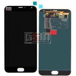 Дисплей для Meizu MX5, черный, с сенсорным экраном (дисплейный модуль)