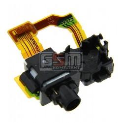 Шлейф для Sony C6902 L39h Xperia Z1, C6903 Xperia Z1, C6906 Xperia Z1, C6943 Xperia Z1, конектора навушників, з датчиком приближення, з компонентами