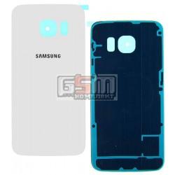 Задняя панель корпуса для Samsung G925F Galaxy S6 EDGE, белая, high copy