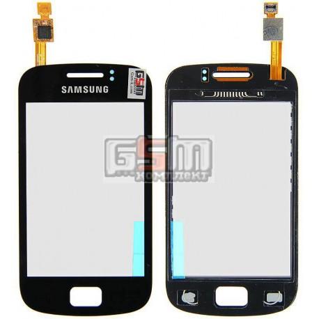 Тачскрин для Samsung S6500 Galaxy Mini 2, черный
