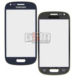 Стекло корпуса для Samsung I8190 Galaxy S3 mini, синее