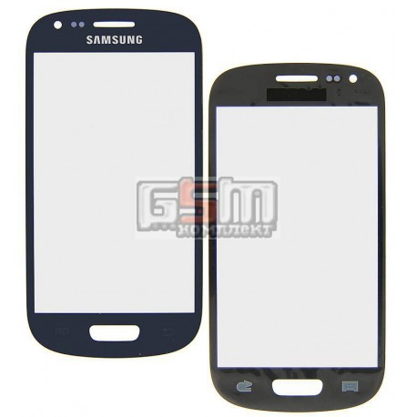 Стекло корпуса для Samsung I8190 Galaxy S3 mini, синее