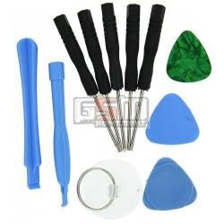 Набор для ремонта мобильных телефонов (3 медиатора, 2 лопатки, 5 отвертки, присоска)