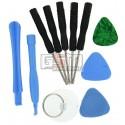 Набор для ремонта мобильных телефонов (2 медиатора, 2 лопатки, 5 отвертки, присоска)