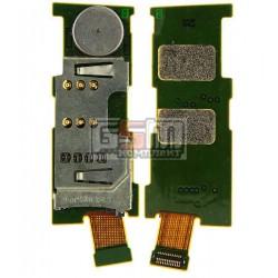 Коннектор SIM-карты для Nokia E52, коннектор карты памяти, со шлейфом