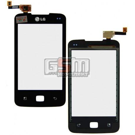 Тачскрин для LG E510 Optimus Hub, черный