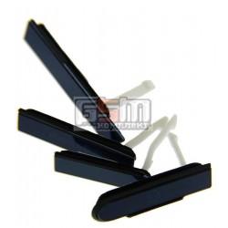 Бічна заглушка для Sony C6602 L36h Xperia Z, C6603 L36i Xperia Z, C6606 L36a Xperia Z, повний комлект, чорна