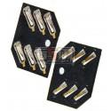 Коннектор SIM-карты для Nokia 2323c, 2330c, 2720f, 3710f, 5530, 6500c, 6600f, 6600s, 7070, 7900, N81, X3-00