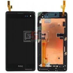 Дисплей для HTC Desire 600 Dual sim, Desire 606w, черный, с сенсорным экраном (дисплейный модуль), с передней панелью
