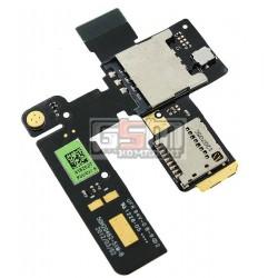 Коннектор SIM-карты для HTC G24, T320e One V , коннектор карты памяти, со шлейфом