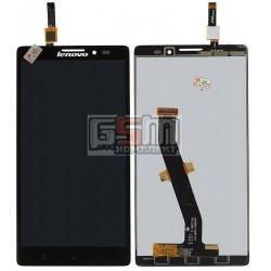 Дисплей для Lenovo K910 Vibe Z, черный, с сенсорным экраном (дисплейный модуль)