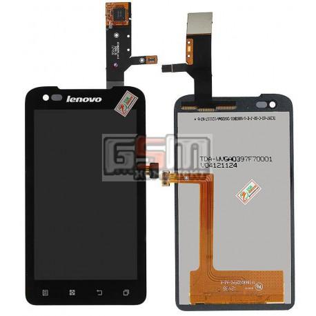 Дисплей для Lenovo A660, чорний, з сенсорним екраном, TFT8K8232FPC-A3-E