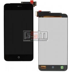 Дисплей для Meizu MX2, черный, с сенсорным экраном (дисплейный модуль)