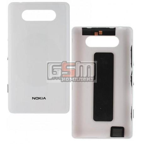 Задняя панель корпуса для Nokia 820 Lumia, белая, с боковыми кнопками