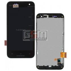 Дисплей для Xiaomi Mi2, Mi2S, черный, original (PRC), с сенсорным экраном (дисплейный модуль), с передней панелью