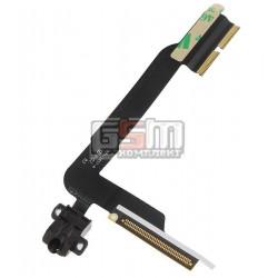 Шлейф для Apple iPad 3, iPad 4, коннектора наушников, с компонентами