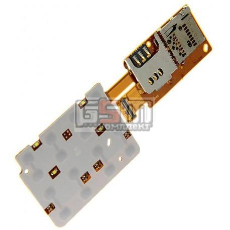 Клавиатурный модуль для Nokia X3-02, с коннектором SIM-карты, с коннектором карты памяти
