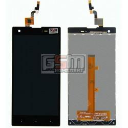 Дисплей для Fly IQ4511, черный, с сенсорным экраном (дисплейный модуль), #IPS5K0775FPC-A1-E