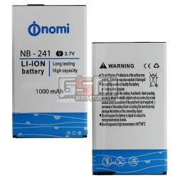 Аккумулятор NB-241 для Nomi i241, original, (Li-ion 3.7V 1000mAh)