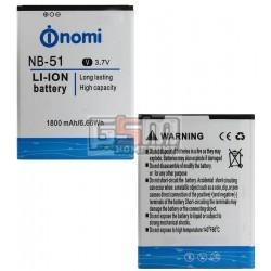 Аккумулятор NB-51 для Nomi i500 Sprint, original, (Li-ion 3.7V 1800mAh)