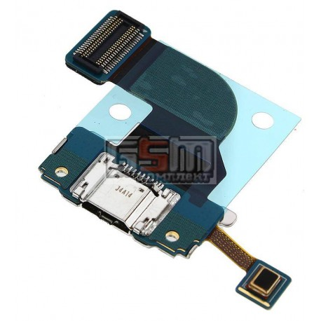 Шлейф для планшета Samsung T311 Galaxy Tab 3 8.0, коннектора зарядки, с компонентами