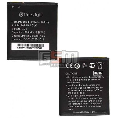 Акумулятор для Prestigio MultiPhone 5400 Duo, оригінал, (Li-ion 3.7V 1700mAh)